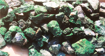 rough jade at the mine