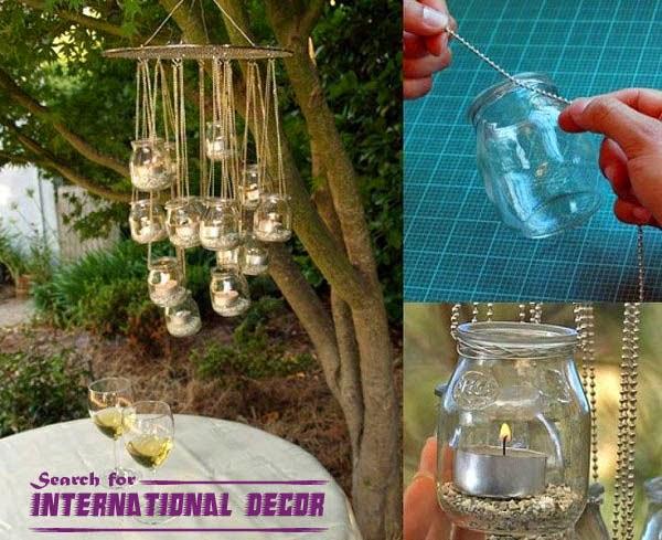 Recycle Glass Bottles Chandelier Glass Jars