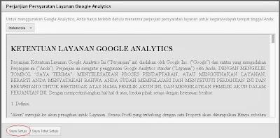 Ketentuan layanan Google Analytics
