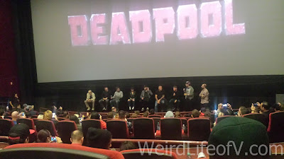 Cast and creators of Deadpool at the Fan Event in Los Angeles.