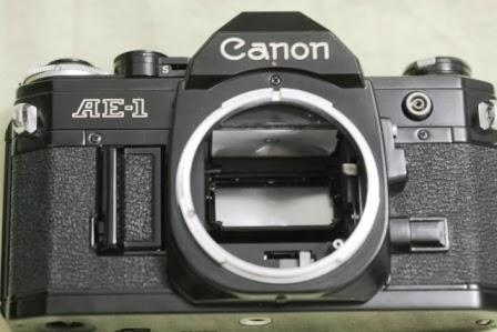 Canon ae-1 hitam depan