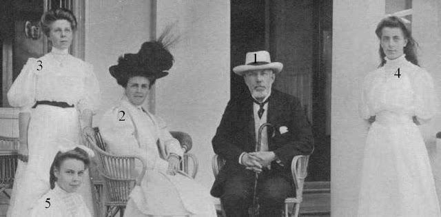 oscar bernadotte Ebba Henrietta Munck af Fulkila et leurs filles
