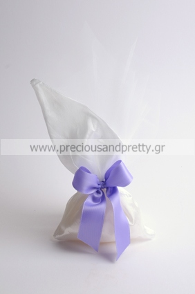 Lilac bow wedding favor bags