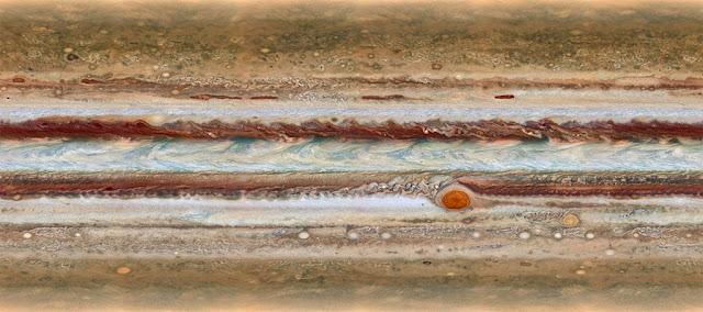 novo mapa de Júpiter