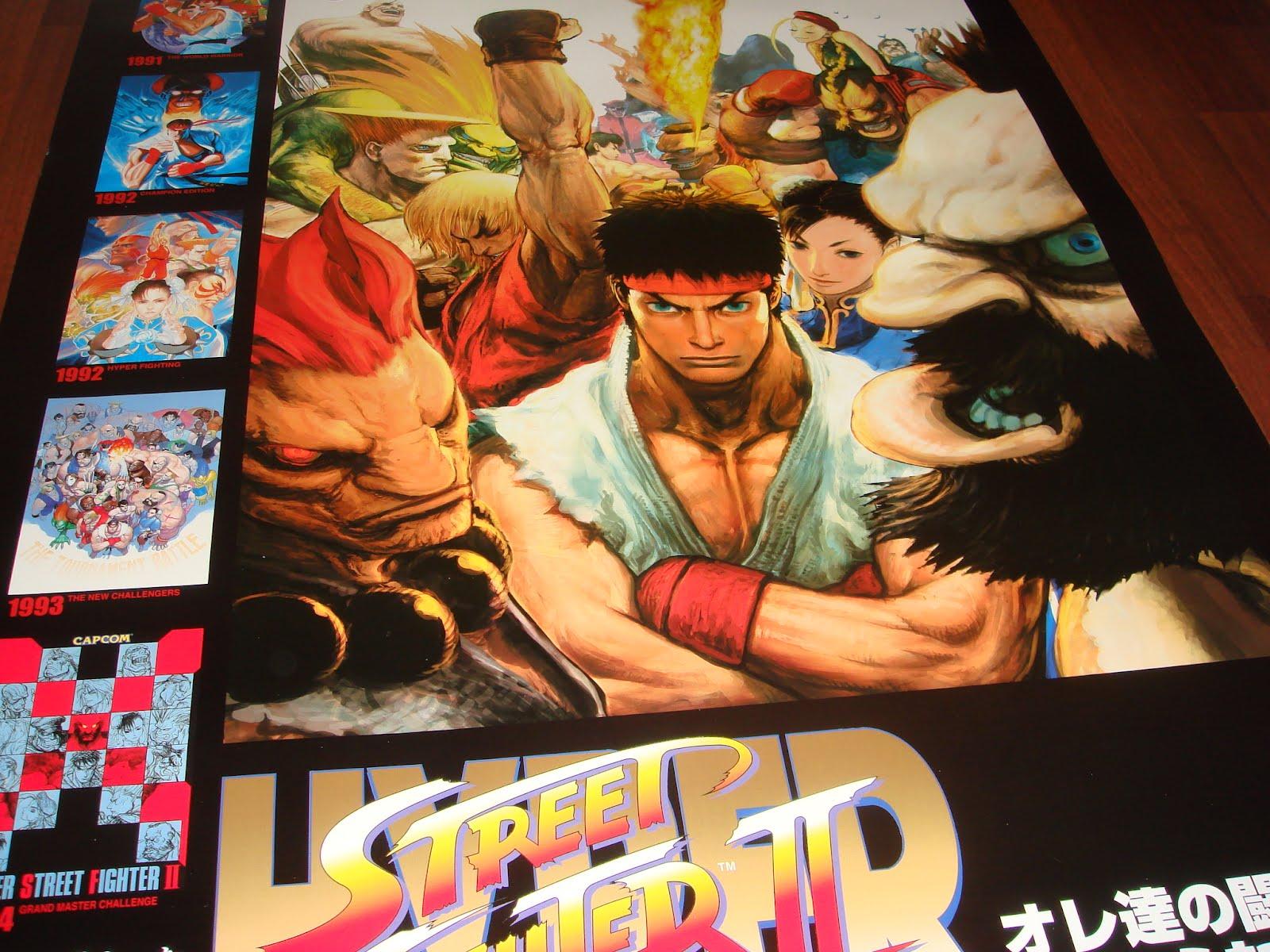 ARCADE4LIFE: *New Arrivals* Hyper Street Fighter 2 B1 Poster