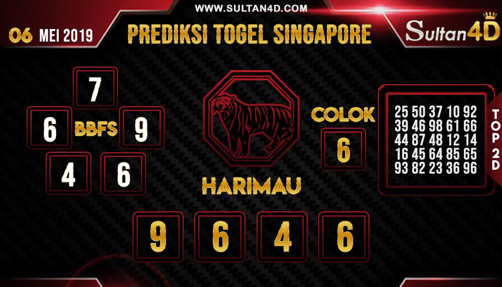 PREDIKSI TOGEL SINGAPORE SULTAN4D 06 MEI 2019