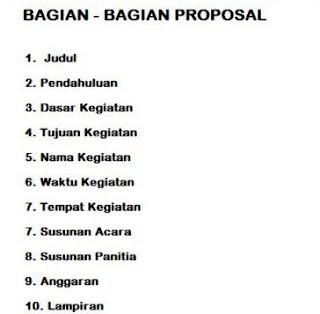 Contoh Proposal Kegiatan Yang Baik dan Benar