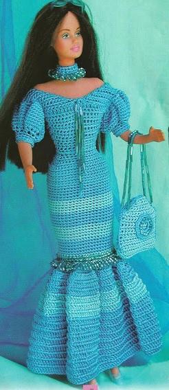 Robe longue pour poupée mannequin