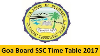 Goa Board SSC Time Table