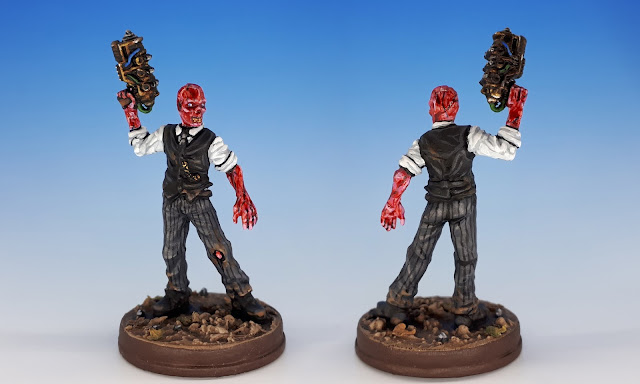 Painted miniature of the Ghoul, Fallout Board Game