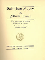 Saint Joan of Arc Title Page