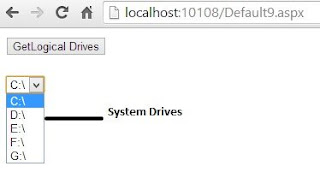 How to access system Drives in asp.net