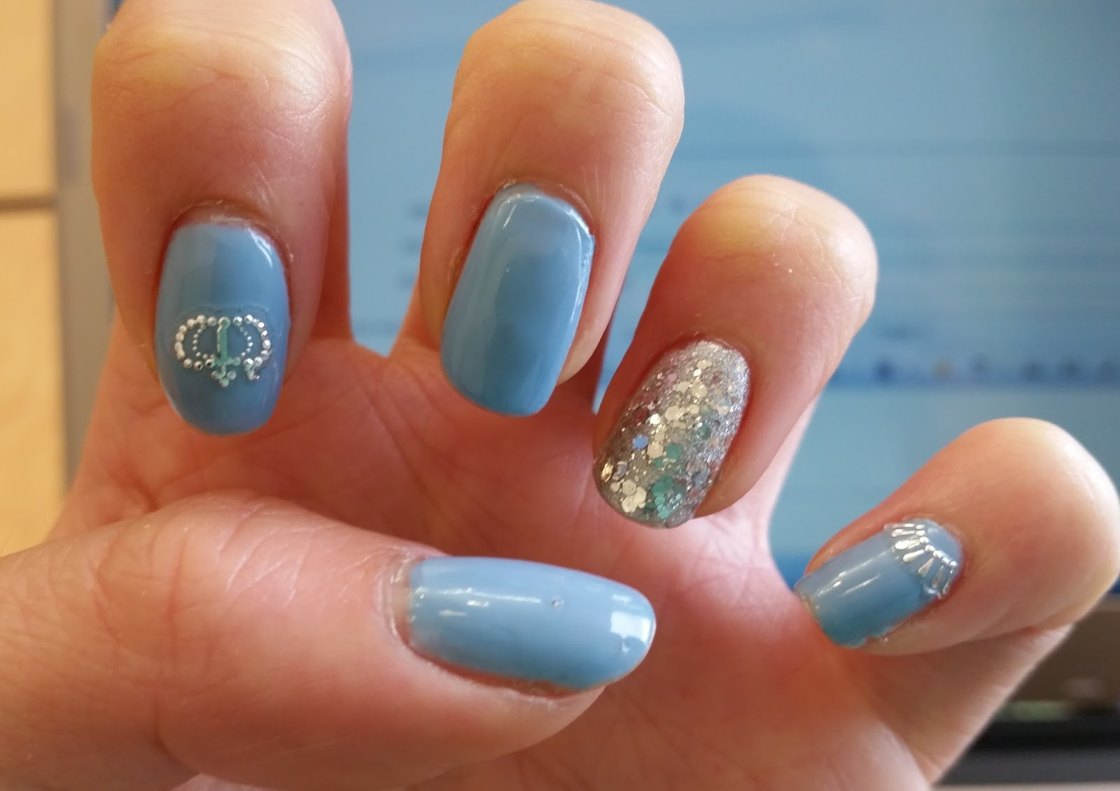 Beauty in Everyday Life: Disney Princess Series Nail Art: Cinderella