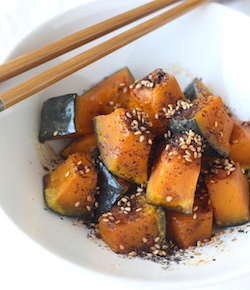 Soy glazed kabocha squash with Japanese Sesame Seasoning by seasonwithspice.com
