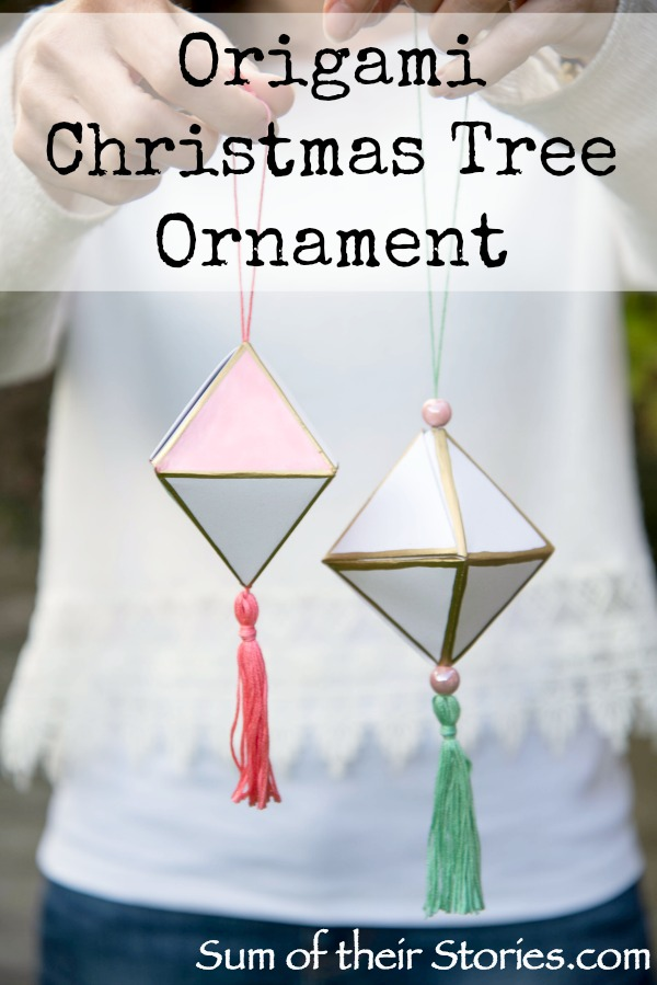 origami christmas tree ornament sum of their stories