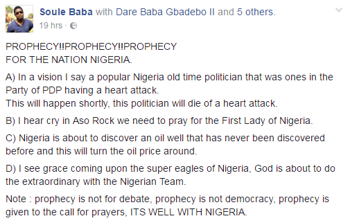 I HEARD A PAINFUL CRY IN ASOROCK, PRAY FOR AISHA BUHARI – NEW PROPHECY SHAKES NIGERIA (MUST READ)