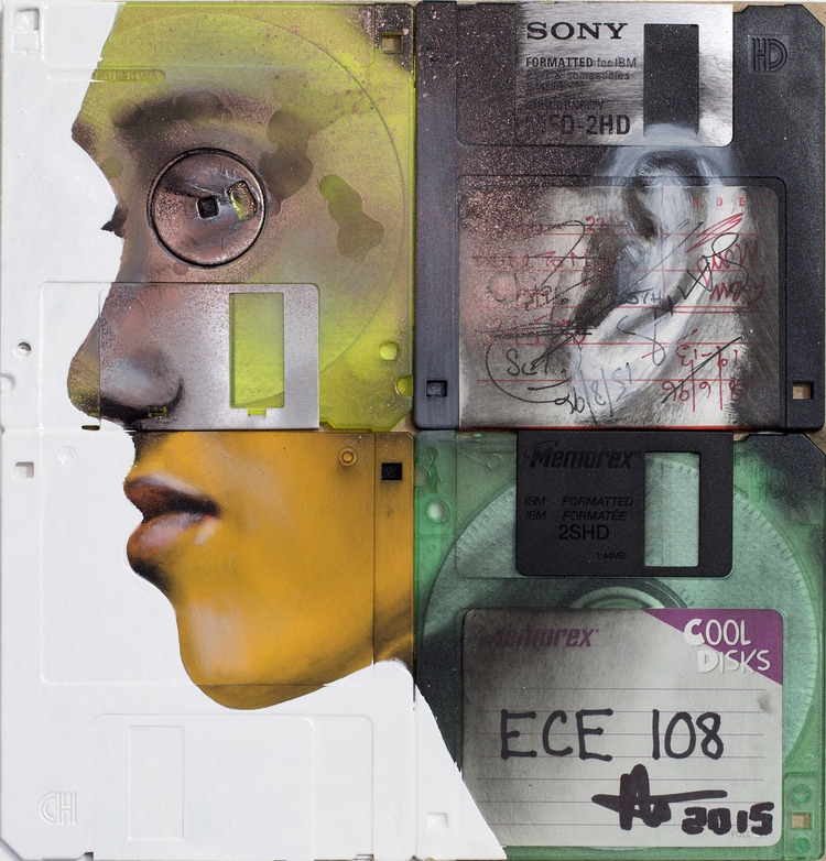 05-Profile-computer-floppy-disks-Nick-Gentry-Painting-on-Recycled-and-Obsolete-Technological-Materials-www-designstack-co