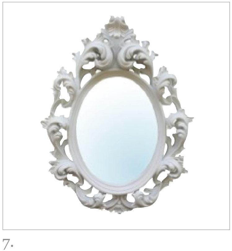 Rococo Mirror in white