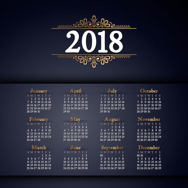 calendarios 2018 gratis para imprimir y web