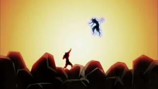 Jiren stops kamehameha made by Goku