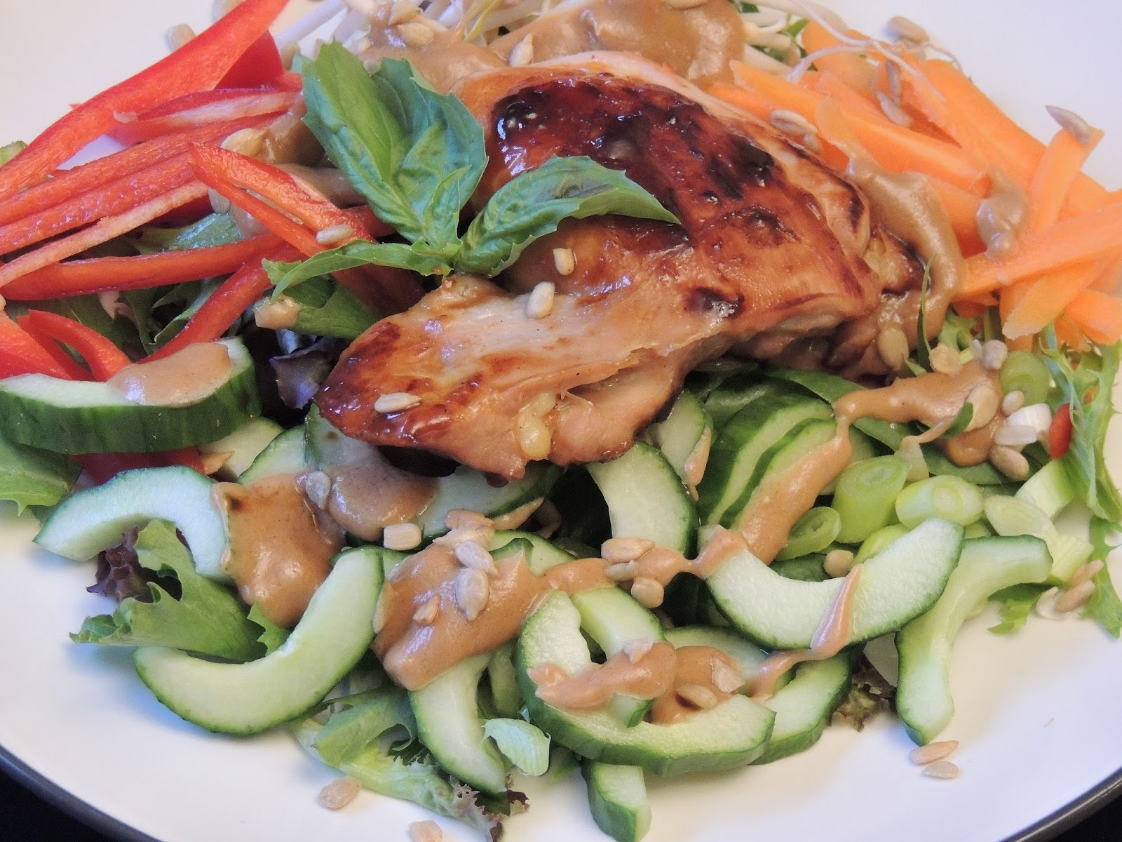 Gas Stove Girl: Sweet Chili Chicken Salad with Peanut Dressing