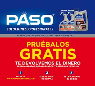 Probar gratis productos de limpieza PASO