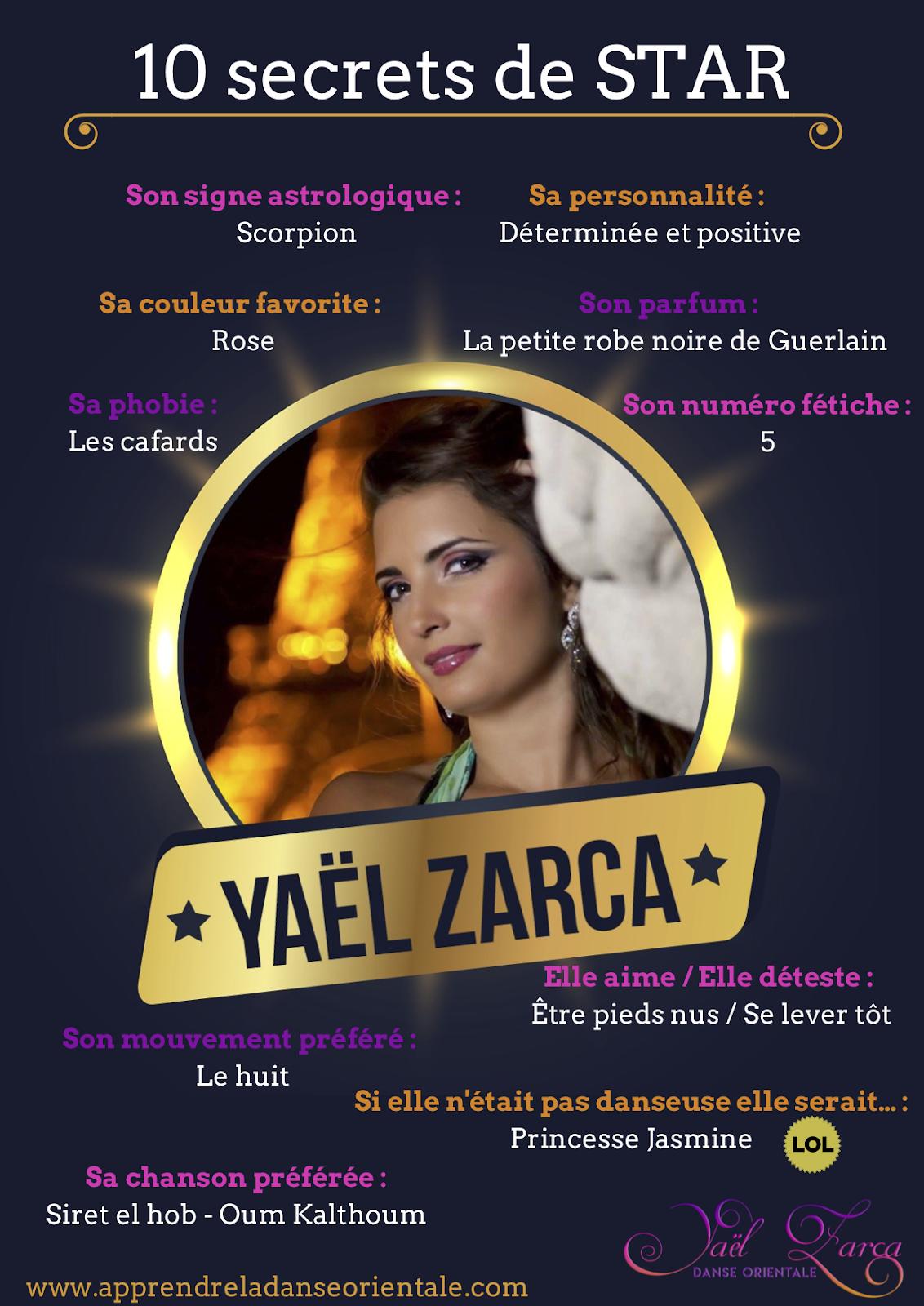 interviews avec la célèbre danseuse orientale Yaël Zarca