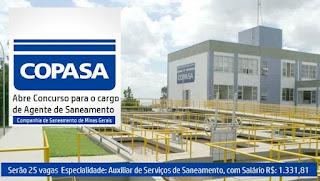 Apostila COPASA MG (Impressa) Agente de Saneamento