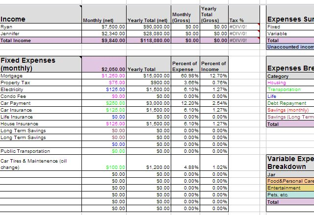 company vacation travel expense log template excel free
