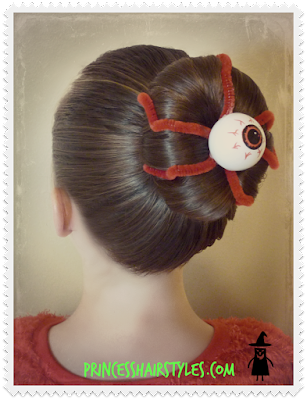 Eyeball Bun Hairstyle Tutorial For Halloween or Crazy Hair Day!