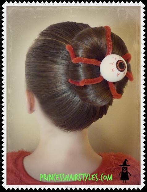 eyeball bun hairstyle halloween