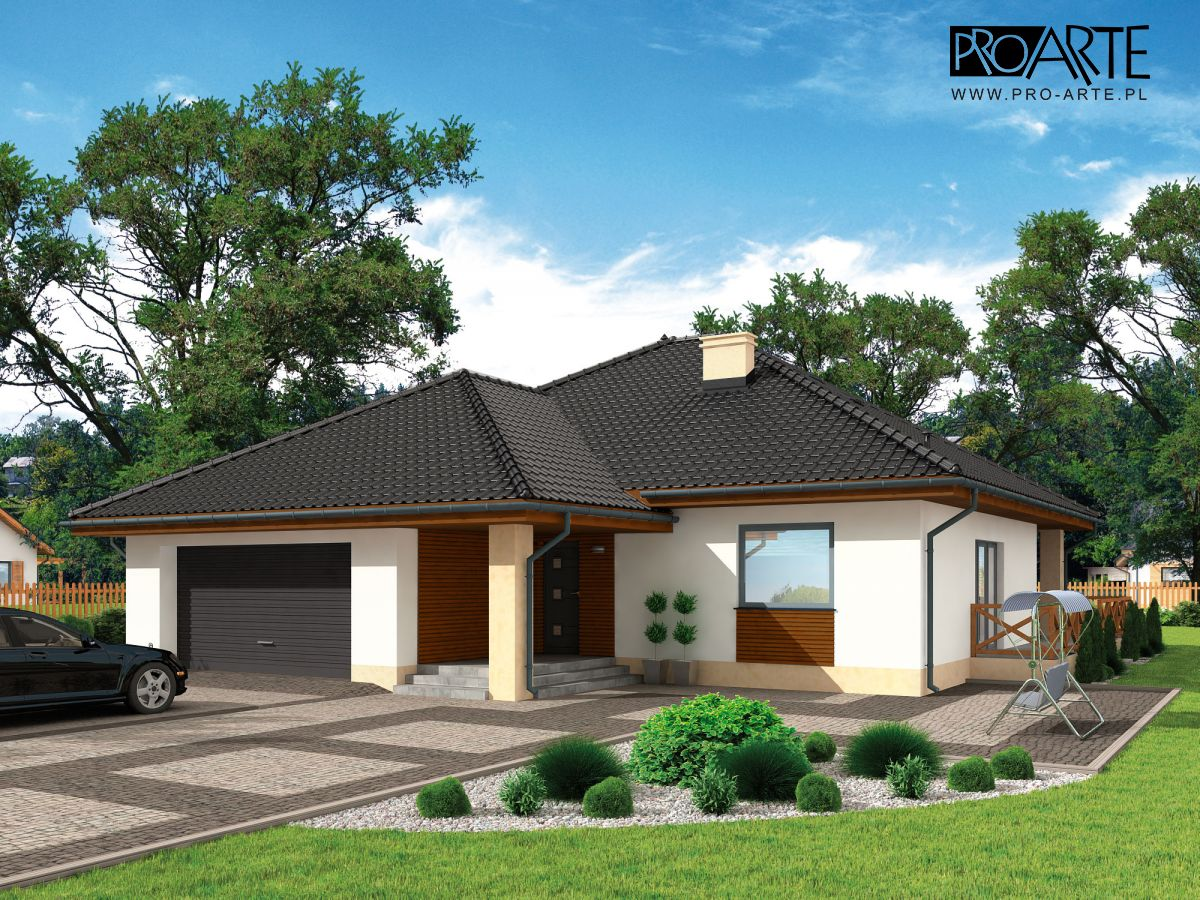 Today's bungalow houses are not much different than the traditional houses from an earlier time. However, you'll notice some house plans have expanded to accommodate a growing family or to adopt a more modern design and style. A bungalow is a compact house that fits perfectly in a small area. Bungalow style houses may have covered garages, verandas, and open floor plans. Browse our selection of bungalow house plans to find your dream home. Technical Data + boiler room / laundry room: 7.32 m² + attic: 56.53 m² Net floor area: 0 m² Building area: 212.91 m² Pow. terraces / verandas / shelters / external stairs: 57.05 m² Total surface: 307.14 m² cubic capacity: 1142 m³ building height: 7.98 m Roof angle: 30° Min. Plot size (width x length): 22.65 x 25.3 m Do you have a loft: SO Number of rooms: 15 Number of rooms: 4     Ground Floor Plan 01.vestibule: 6.26 pow. [m²] 02.Communication: 17.95 pow. [m²] 03.Pantry: 3.19 pow. [m²] 04.Kitchen: 10.61 pow. [m²] 05.Salon: 33.56 pow. [m²] 06.Room: 15.88 pow. [m²] 07.Room: 18.55 pow. [m²] 08.Bathroom: 5.37 pow. [m²] 09.Gaderoba: 4.91 pow. [m²] 10.Room: 12.04 pow. [m²] 11.Bathroom: 5.93 pow. [m²] sum: 134.25 pow. [m²] 12.Boiler room / Laundry: 7.32 pow. [m²] 13.Garage: 37.72 pow. [m²] 14.Terrace: 44.44 pow. [m²] sum: 223.73v pow. [m²] Sponsored Links           Technical data 1. Usable area: 181.71 m² 2. boiler room: 4.13 m² 3. carport: 26.6 m² 4. 15.4 m²: veranda 5. Net floor area: 0 m² 6. Building area: 135 m² 7. carport of 28 m² 8. veranda: 17.64 m² 9. Pow. terraces / verandas / shelters / external stairs: 50.14 m² 10. Total surface: 321.36 m² 11. cubic capacity: 961.55 m³ 12. building height: 7.8 m 13. Roof angle: 35° , 20° 14. Min. Plot size (width x length): 21.5 x 18 m 15. Do you have a loft: SO    Ground Plan 01.vestibule:3.02 area. Art [m²] 02.Communication:10.82 area. Art [m²] 03.Bathroom:5.65 area. Art [m²] 04.Room:11.63 area. Art [m²] 05.Room:13.88 area. Art [m²] 05.Wardrobe:3.57 area. Art [m²] 06.Room:13.88 area. Art [m²] 07.Room:18.88 area. Art [m²] 08.Living room:33.73 area. Art [m²] 09.Kitchen:8.05 area. Art [m²] sum:123.11 area. Art [m²] 10.Boiler:4.13 area. Art [m²] sum:127.24 area. Art [m²]    First Floor Plan 01.Communication:15.58 Art [m²] 02.Room:8.7 Art [m²] 03.Room:9.8 Art [m²] 04.Room:10.14 Art [m²] 05.Room:11.55 Art [m²] 06.Room:11.2 Art [m²] 07.Dryer:3.03 Art [m²] 08.Bathroom:3.48 Art [m²] sum:73.48 Art [m²]          Technical data Usable area:126.17 m² 1.37.85 m² garage 2.boiler room:10.15 m² 3.11.66 m² Terrace 4.Net floor area:0 m² 5.Building area:133.39 m² 6.Pow. terraces / verandas / shelters / external stairs.:31.81 m² 7.Total surface:298.59 m² 8.cubic capacity:868 m³ 9.building height:8.24 m 10.Roof angle:43° 11.Min. Plot size (width x length):23.74 x 18.82 m 12.Do you have a loft:SO 13.Number of rooms:16 14.Number of positions garage:2    Ground Floor Plan 1.vestibule: 6.5 area. Art [m²]=6.5 area. Net [m²] 2.Communication: 4.12 area. Art [m²]=4.12 area. Net [m²] 3.Room: 8.43 area. Art [m²]=8.43 area. Net [m²] 4.Kitchen: 9.03 area. Art [m²]=9.03 area. Net [m²] 5.Living room: 23.47 area. Art [m²]=23.47 area. Net [m²] 6.Bathroom: 2.36 area. Art [m²]=2.36 area. Net [m²] sum: 53.91 area. Art [m²]=53.91 area. Net [m²] 7.Boiler: 10.15 area. Art [m²]=10.15 area. Net [m²] 8.Garage: 37.85 area. Art [m²]=37.85 area. Net [m²] sum: 101.91 area. Art [m²]=101.91 area. Net [m²]    First Floor Plan 1Kumunikacja:11.25 area. Art [m²]=9.15 area. Net [m²] 2.Bathroom:8.72 area. Art [m²]=12.67 area. Net [m²] 3.Room:10.91 area. Art [m²]=15.78 area. Net [m²] 4.Bedroom:10.07 area. Art [m²]=13.93 area. Net [m²] 5.Wardrobe:2.39 area. Art [m²]=4.33 area. Net [m²] 6.Wardrobe:1.3 area. Art [m²]=2.99 area. Net [m²] 7.Room:13.14 area. Art [m²]=18.2 area. Net [m²] 8.Room:14.48 area. Art [m²]=20.33 area. Net [m²] sum:72.26 area. Art [m²]=97.38 area. Net [m²]      SOURCE: https://www.pro-arte.pl