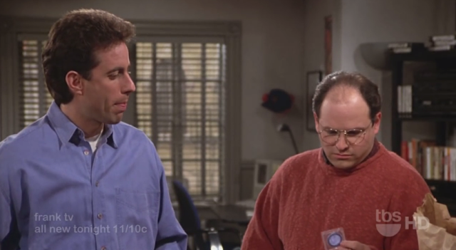 Seinfeld The Fix Up George Costanza Kramer bag of condoms defective Bob Sacamano