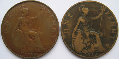 1918 Kings Norton Penny and 1919 Heaton Penny