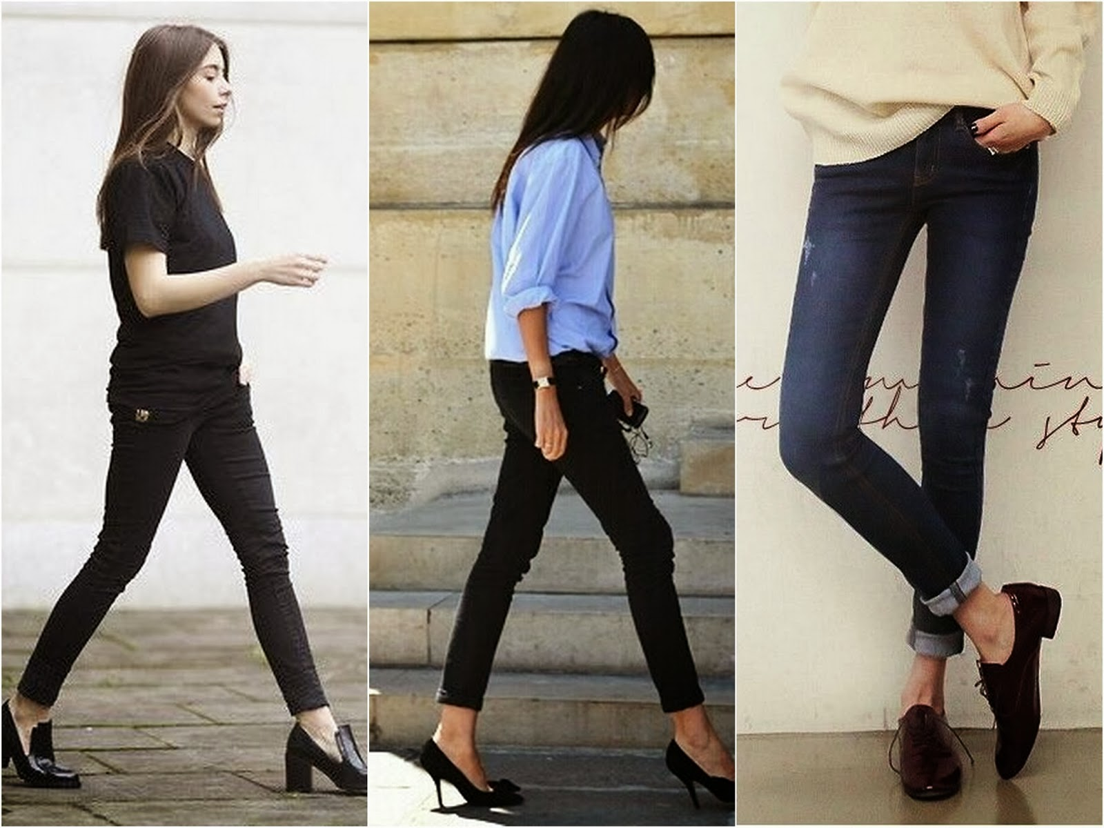 outfit skinny ankle jeans