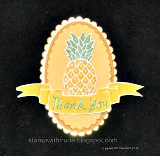 Pop of Paradise, Stampin' Up!, Stamp with Trude, pineapple, card candy