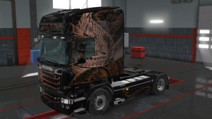 Scania RJL Polynesian skin mod
