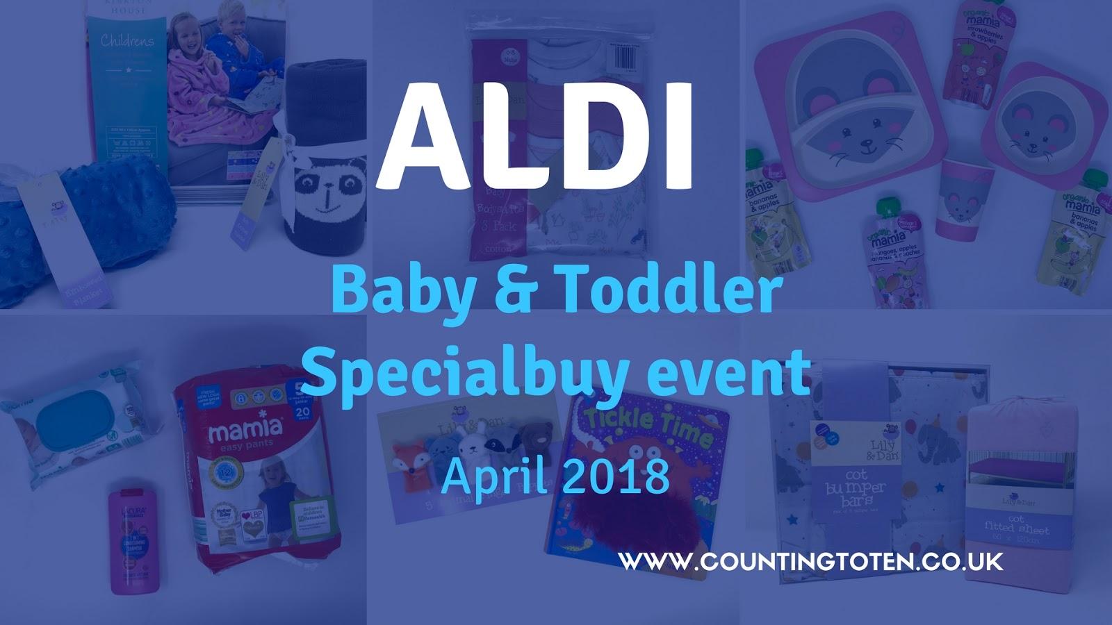 aldi baby toddler specialbuy event april 2018 counting. Black Bedroom Furniture Sets. Home Design Ideas