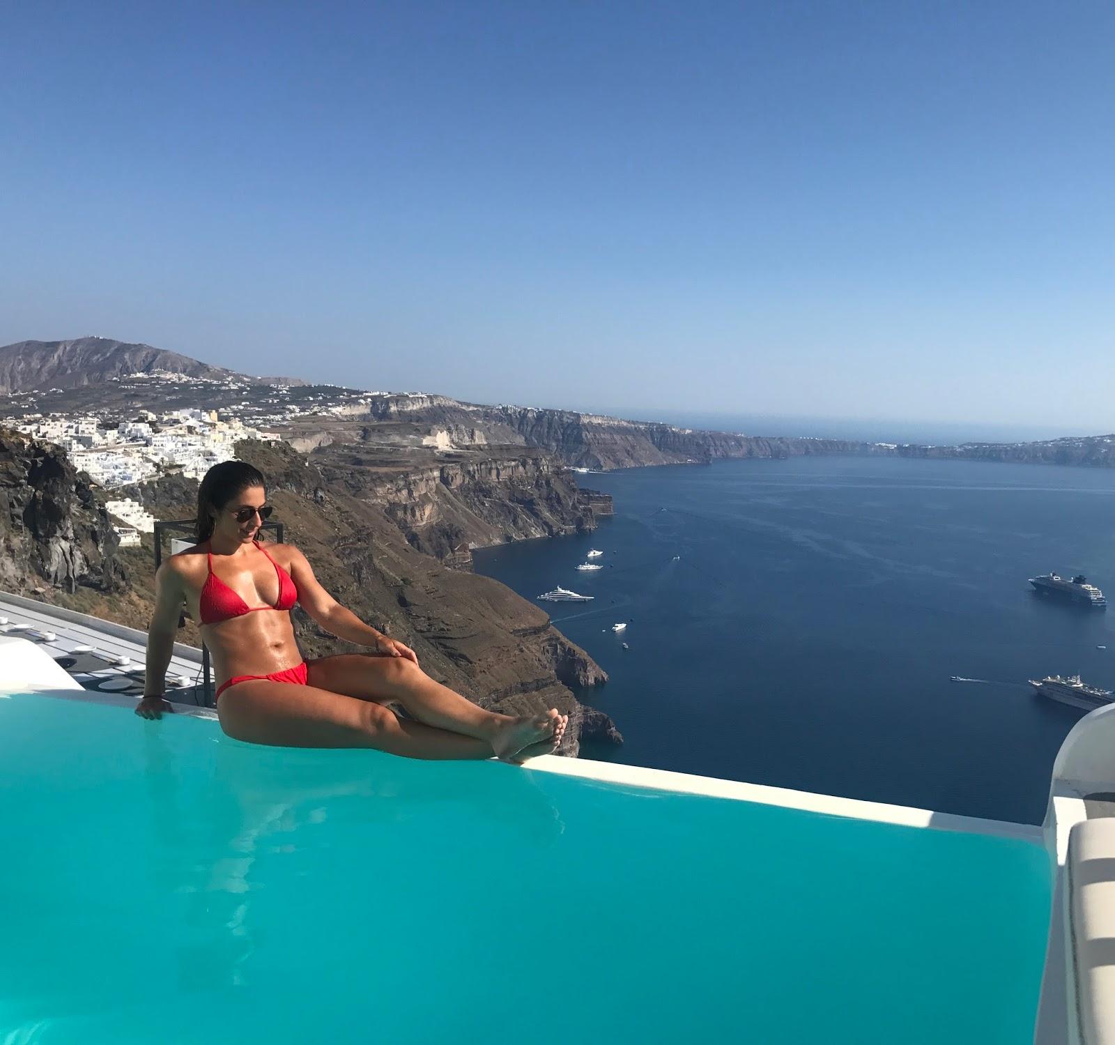 Infinity Pool Santorini Greece