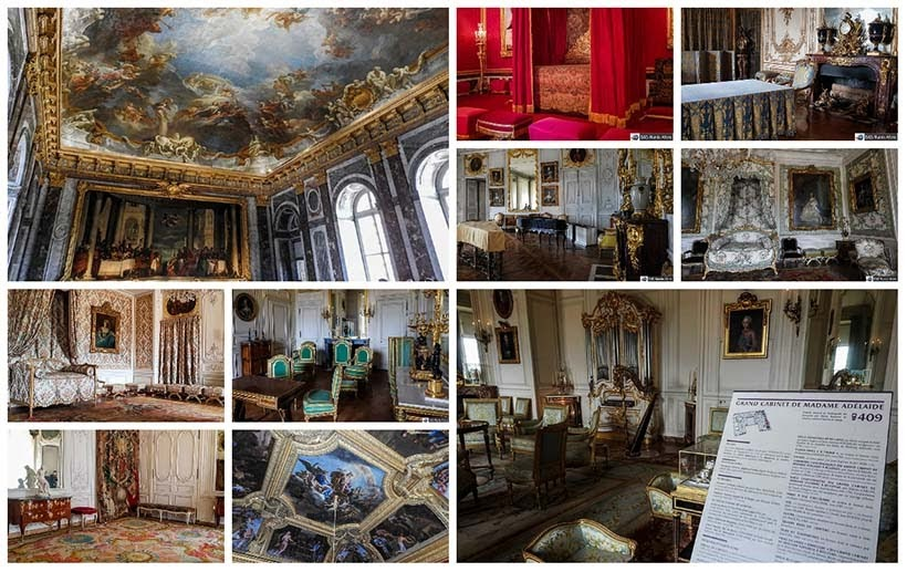 Alguns cômodos do Palácio de Versalhes