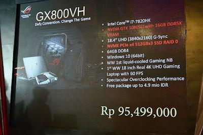 Harga ASUS ROG GX800
