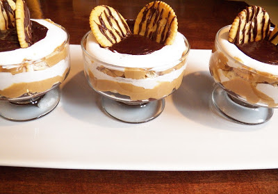 peanut butter and fluff mini trifle, 3 in a row