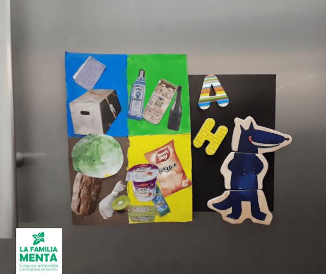 Actividad para niños: Dos ejemplos de tres en raya DIY 54  1 amb pedretes blanques i negres, 2 apegant 9 rosques + 9 taps de colors