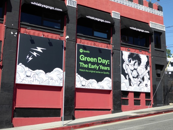 Green Day Early Years Spotify billboard whisky a gogo