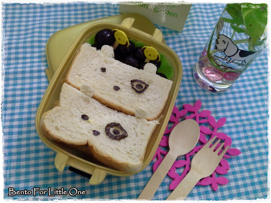 Bento for Little One: Funky Dog Bow Bento