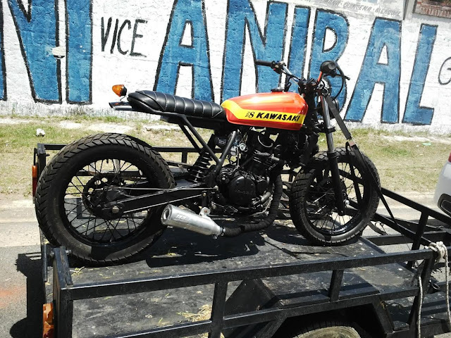 Triple Ocho Garage - KLR Street Tracker