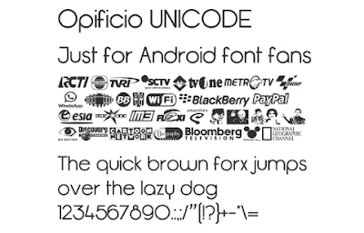 Font Opificio UNICODE Mtz