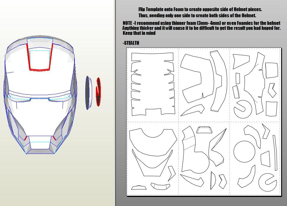 how to draw iron man 3 helmet