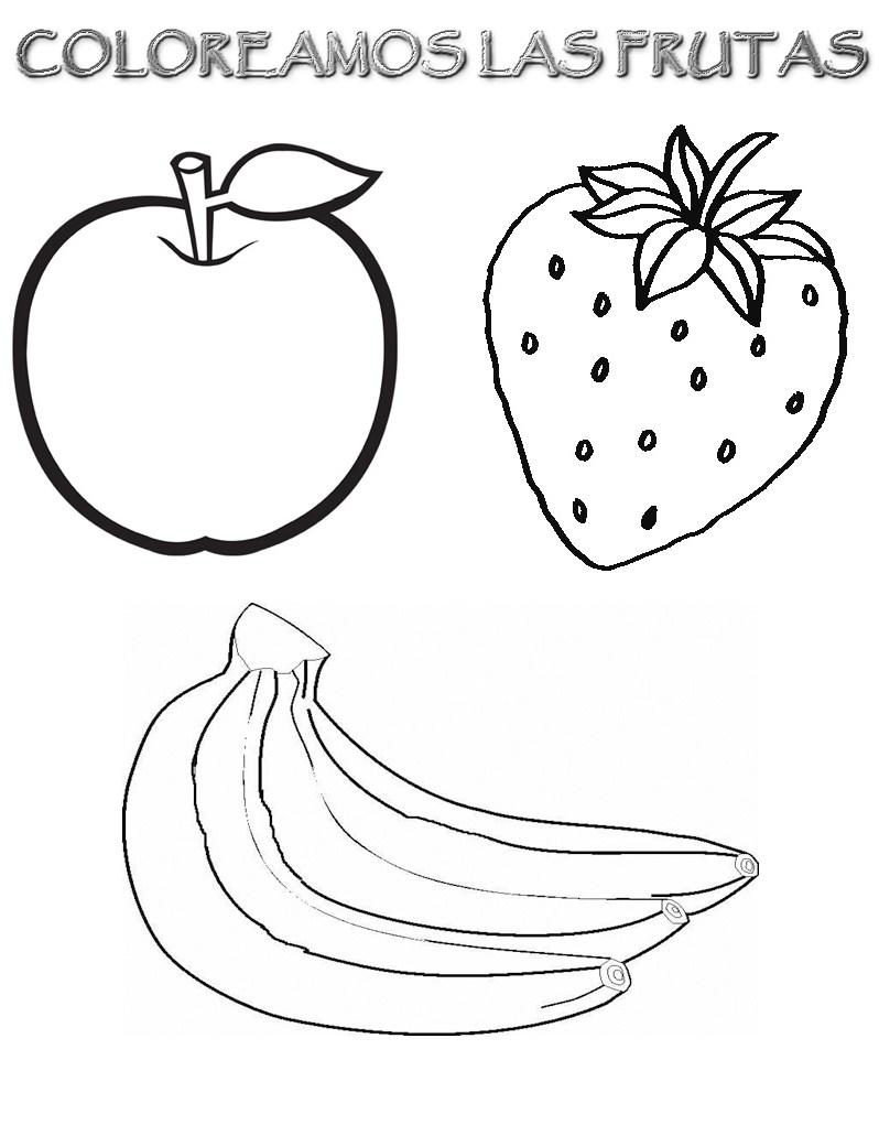 Para Colorear Alimentos Nutritivos Imagui