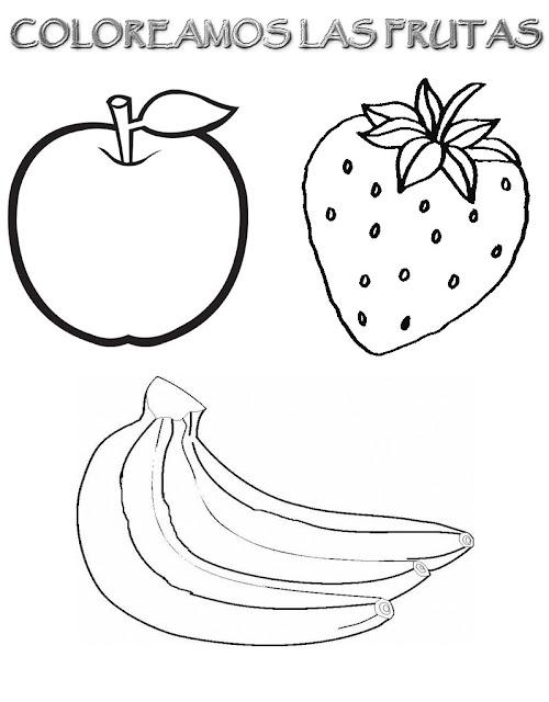 Dibujos De Alimentos Para Imprimir Y Colorear